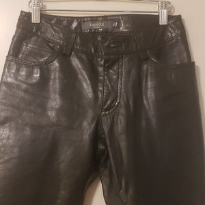 Leather Bootcut Pant